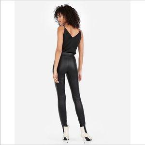 Express Faux Leather Leggings Large